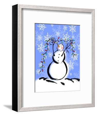 Silly Snowmen I-Nicholas Biscardi-Framed Art Print