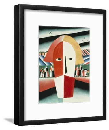 The Head of a Peasant, 1928-30-Kasimir Malevich-Framed Giclee Print