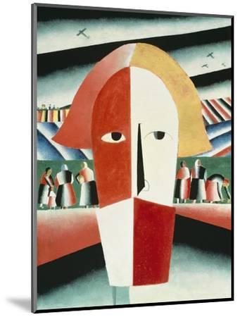 The Head of a Peasant, 1928-30-Kasimir Malevich-Mounted Giclee Print