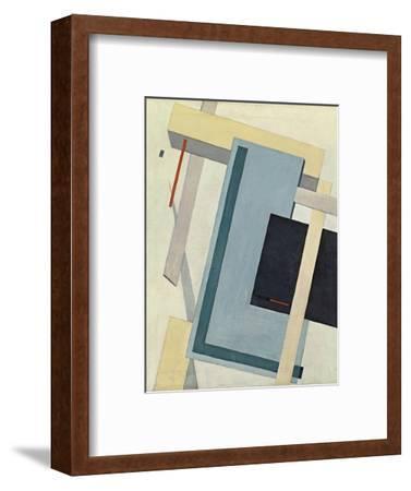 Proun 4 B, 1919-1920-El Lissitzky-Framed Giclee Print