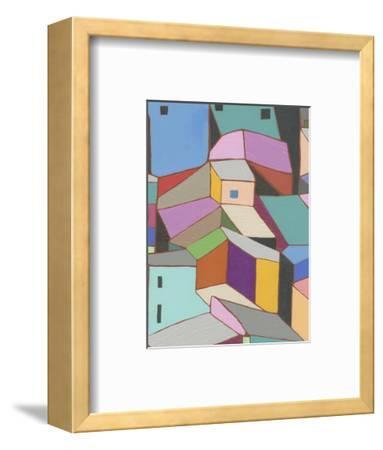 Rooftops in Color VIII-Nikki Galapon-Framed Art Print