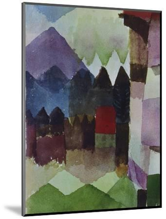 Foehn in the Garden of Franz Marc, 1915-Paul Klee-Mounted Giclee Print