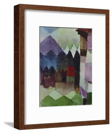 Foehn in the Garden of Franz Marc, 1915-Paul Klee-Framed Giclee Print