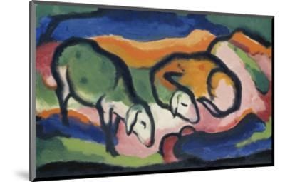 Sheep, 1912-Franz Marc-Mounted Giclee Print