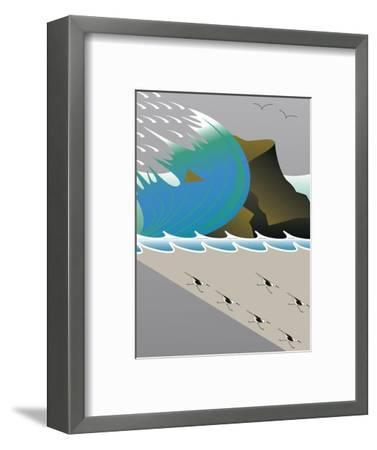 Wave-Marie Sansone-Framed Giclee Print