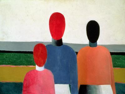 Three Female Figures, 1928-32-Kasimir Malevich-Giclee Print