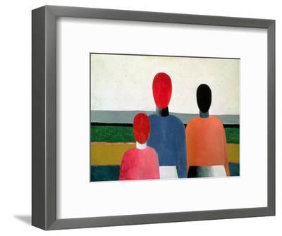 Three Female Figures, 1928-32-Kasimir Malevich-Framed Giclee Print