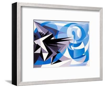 Pessimism and Optimism-Giacomo Balla-Framed Giclee Print