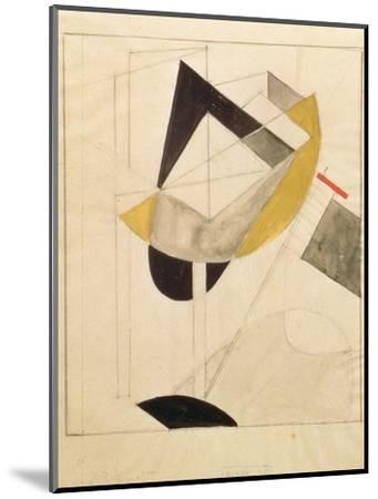 Proun 19, 1920-El Lissitzky-Mounted Giclee Print