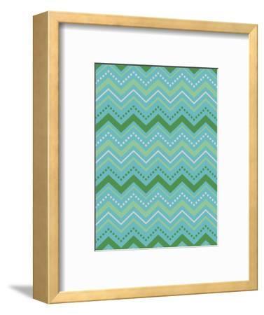 Chevron Gift Wrap-Joanne Paynter Design-Framed Giclee Print