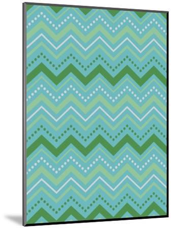 Chevron Gift Wrap-Joanne Paynter Design-Mounted Giclee Print