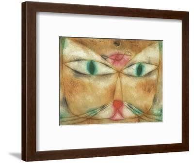 Cat and Bird-Paul Klee-Framed Giclee Print