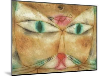 Cat and Bird-Paul Klee-Mounted Giclee Print