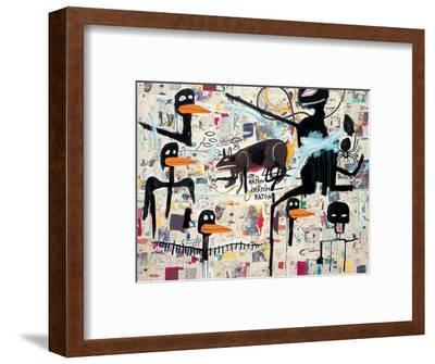Tenor, 1985-Jean-Michel Basquiat-Framed Giclee Print