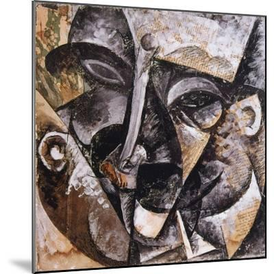 Dynamism of a Man's Head, 1914-Umberto Boccioni-Mounted Giclee Print