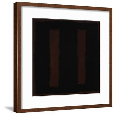 Untitled {Black on Maroon} [Seagram Mural Sketch]-Mark Rothko-Framed Giclee Print