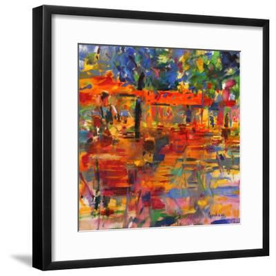 Falling Leaves, Paris-Peter Graham-Framed Giclee Print