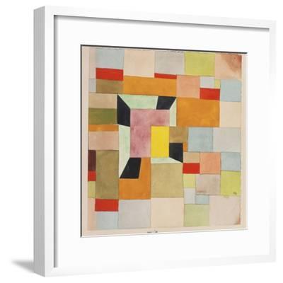 Split Coloured Rectangles-Paul Klee-Framed Giclee Print