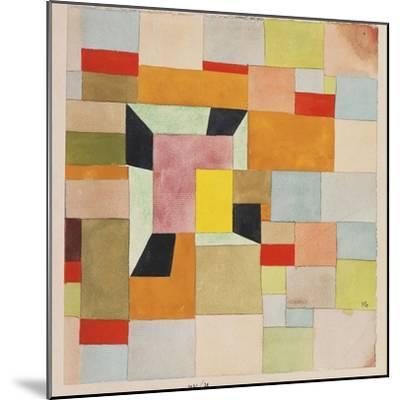 Split Coloured Rectangles-Paul Klee-Mounted Giclee Print