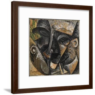 Dynamism of a Man's Head or Composition of a Woman's Head (Dinamismo Di Una Testa Di Uomo)-Umberto Boccioni-Framed Giclee Print