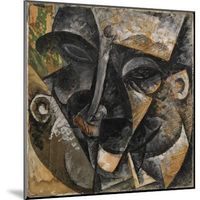 Dynamism of a Man's Head or Composition of a Woman's Head (Dinamismo Di Una Testa Di Uomo)-Umberto Boccioni-Mounted Giclee Print