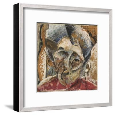 Dynamism of a Woman's Head or Head of a Woman or Decomposition of a Woman's Head-Umberto Boccioni-Framed Giclee Print