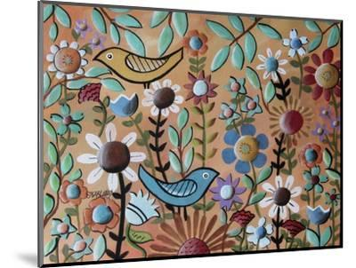 Birds and Flowers 1-Karla Gerard-Mounted Giclee Print