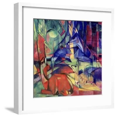 Deer in the Forest II, 1914-Franz Marc-Framed Giclee Print