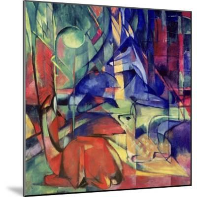 Deer in the Forest II, 1914-Franz Marc-Mounted Giclee Print