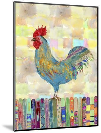 Rooster on a Fence II-Ingrid Blixt-Mounted Premium Giclee Print