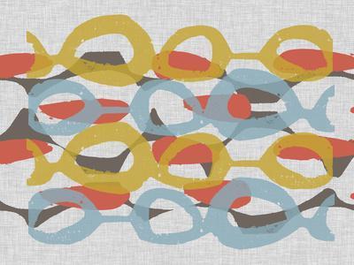 Mid Century Pattern I-Jennifer Goldberger-Framed Premium Giclee Print