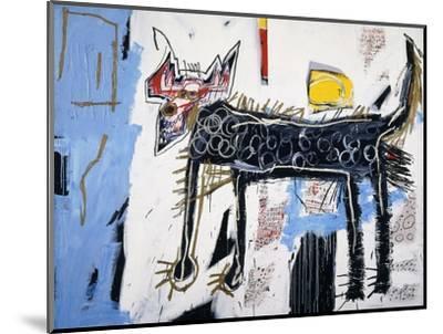 Part Wolf-Jean-Michel Basquiat-Mounted Premium Giclee Print
