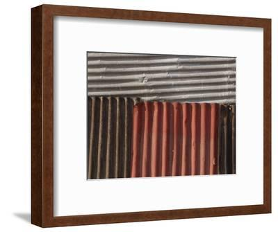 Multicolored Corrugated Tin--Framed Photographic Print