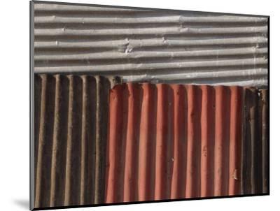 Multicolored Corrugated Tin--Mounted Photographic Print