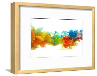 Colorful Ink in Water-SSilver-Framed Photographic Print