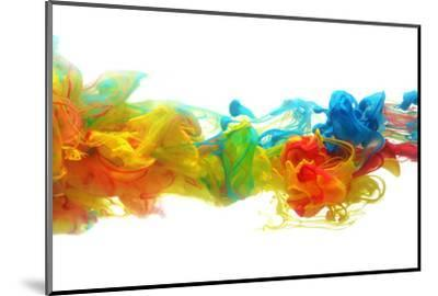 Colorful Ink in Water-SSilver-Mounted Photographic Print