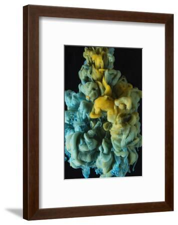 Liquid Color Drop, Isolated Black Background-sanjanjam-Framed Photographic Print
