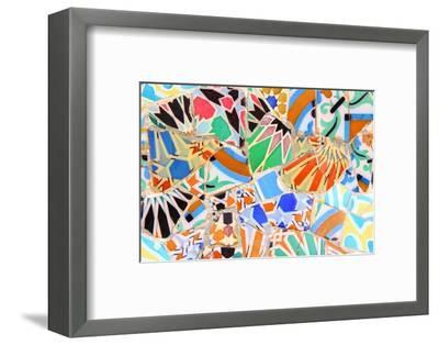 Barcelona, Spain - Gaudi Mosaic-Tupungato-Framed Photographic Print