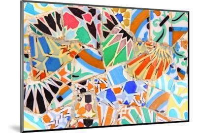 Barcelona, Spain - Gaudi Mosaic-Tupungato-Mounted Photographic Print