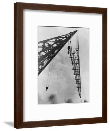 Crane at Work--Framed Photographic Print