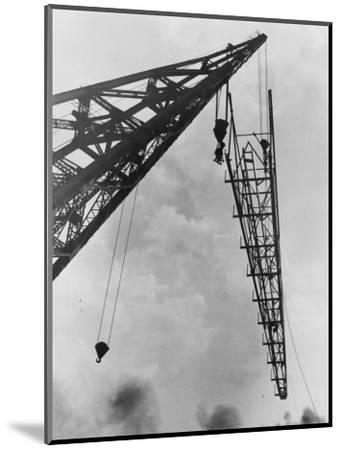 Crane at Work--Mounted Photographic Print