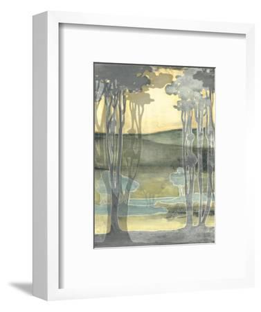 Small Nouveau Landscape I-Jennifer Goldberger-Framed Premium Giclee Print