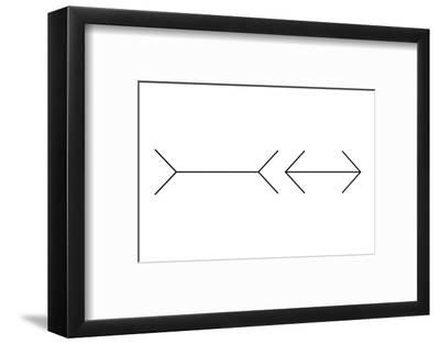 Muller-Lyer Illusion-Science Photo Library-Framed Photographic Print