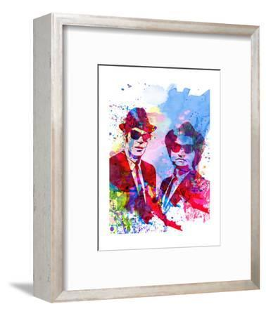Blues Watercolor-Anna Malkin-Framed Premium Giclee Print