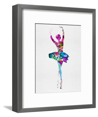 Ballerina Watercolor 1-Irina March-Framed Premium Giclee Print