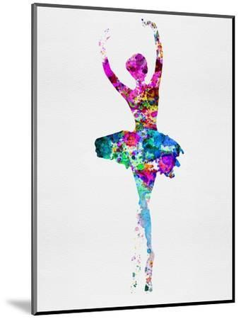 Ballerina Watercolor 1-Irina March-Mounted Premium Giclee Print
