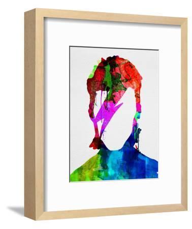 David Watercolor Portrait-Lora Feldman-Framed Premium Giclee Print