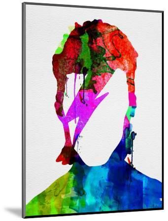 David Watercolor Portrait-Lora Feldman-Mounted Premium Giclee Print