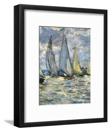 The Boats, or Regatta at Argenteuil-Claude Monet-Framed Art Print