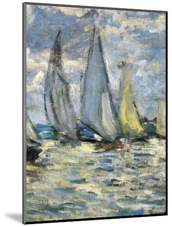 The Boats, or Regatta at Argenteuil-Claude Monet-Mounted Art Print